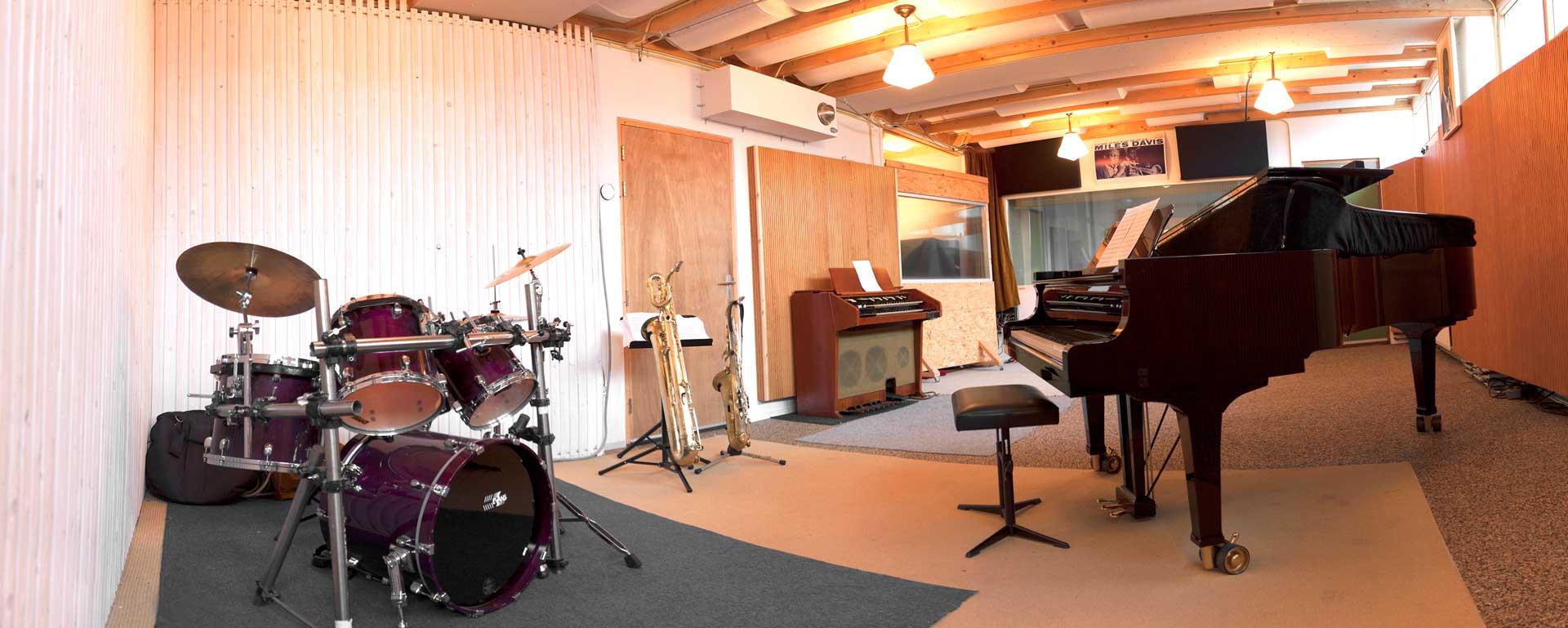 studio vleugel opname